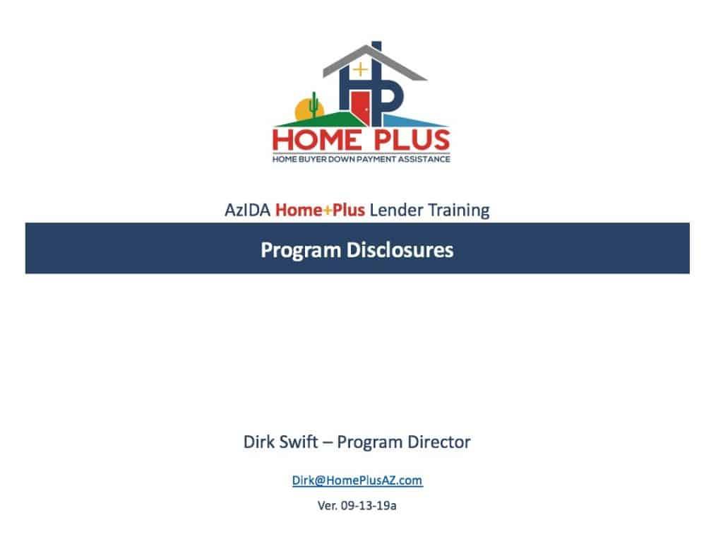 HPAZ - 091319a - Program Disclosures