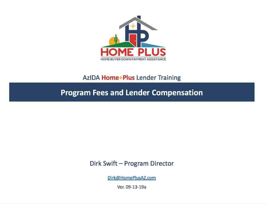 HPAZ - 091319a - Program Fees
